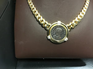 Roman coin with Cuban chain