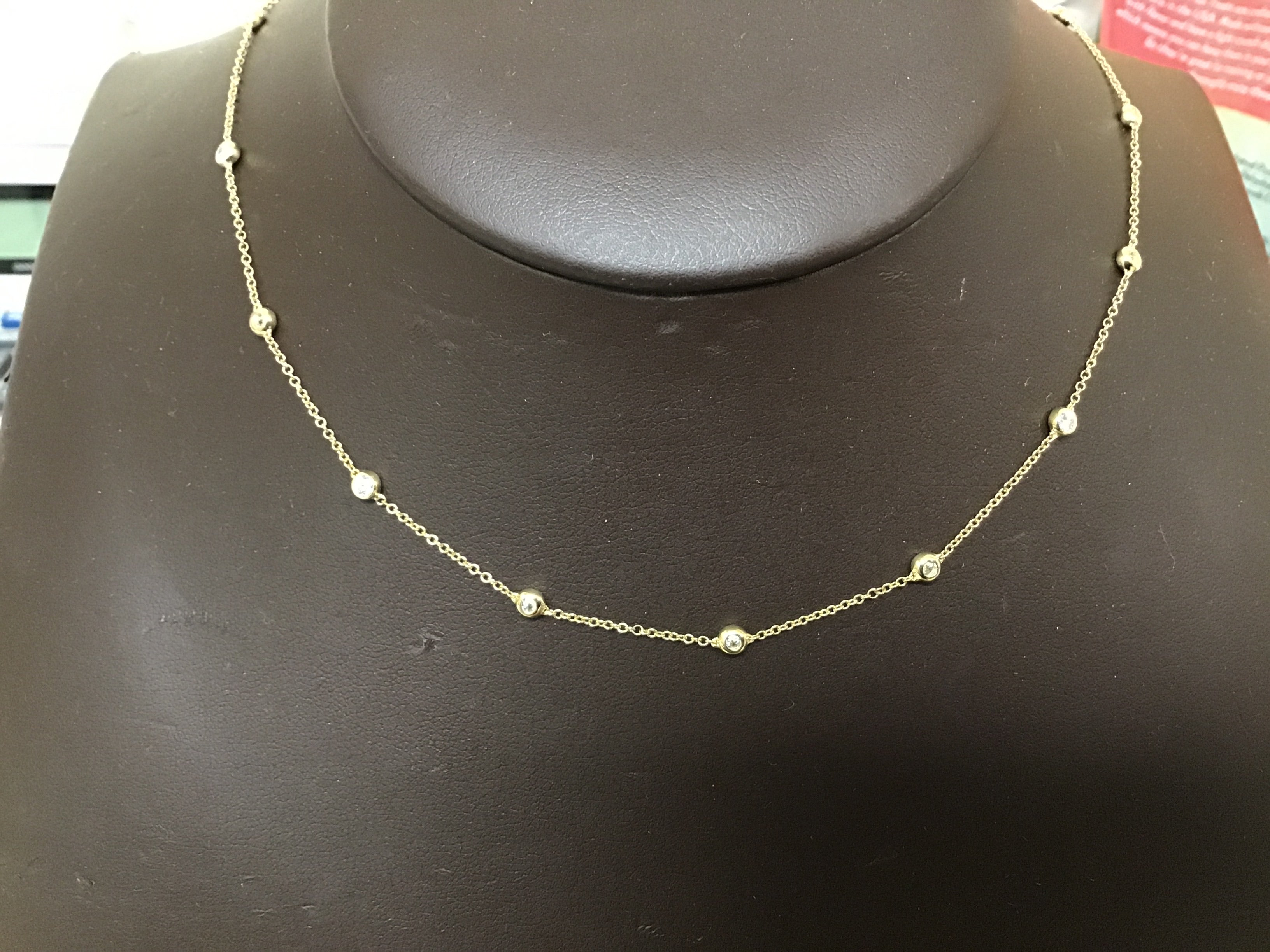 Lab Grown Diamond by the Inch Necklace