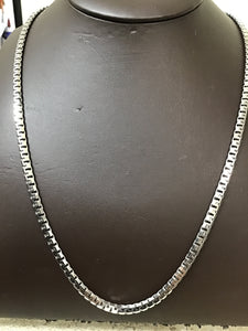 Silver 4.5mm Greek box chain