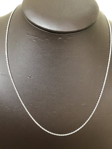 Silver 1.4mm diamond cut rope chain