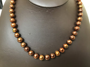 Freshwater chocolate pearl necklace