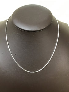 Silver diamond cut box chain