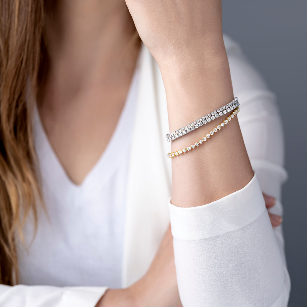 Lab-Grown Diamond Tennis Bracelet
