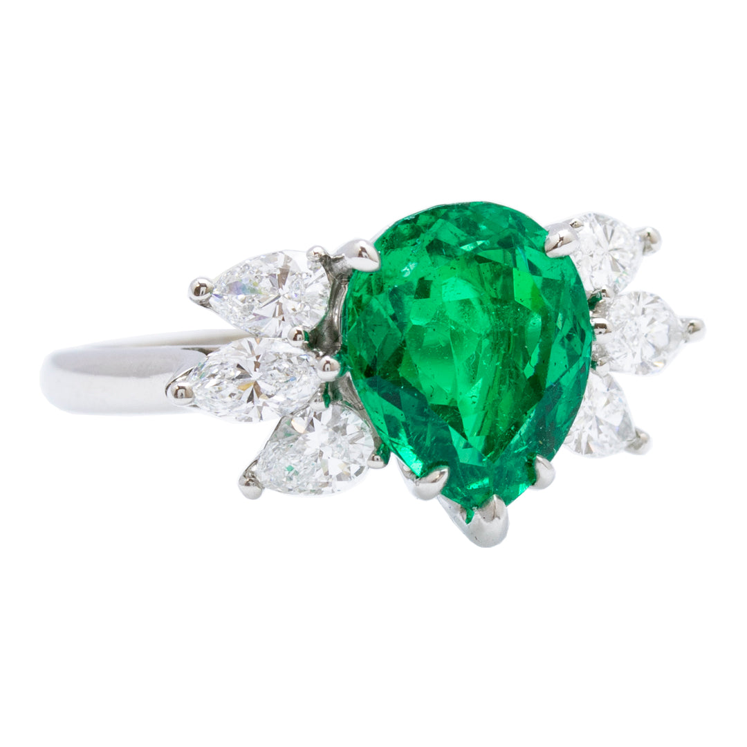 Tiffany & Co. Colombian Emerald and Diamond Ring