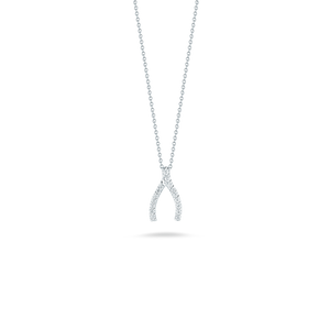 Wishbone Necklace with Diamonds