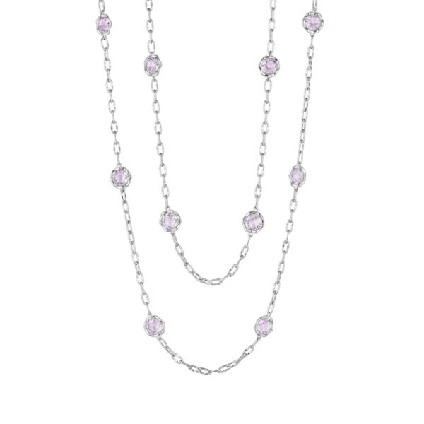 "38"" Candy Drop Necklace featuring Rose Amethyst"