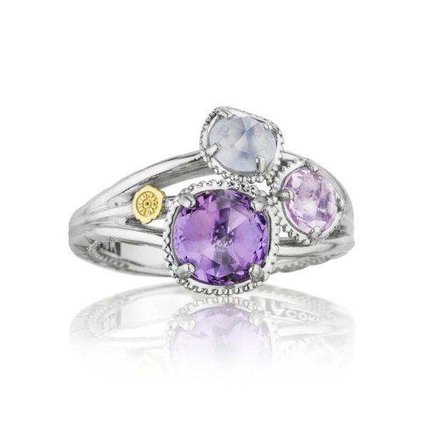 Petite Budding Brilliance Ring featuring Assorted Gemstones