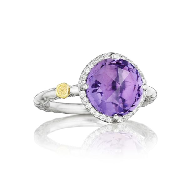 Pavé Simply Gem Ring featuring Amethyst