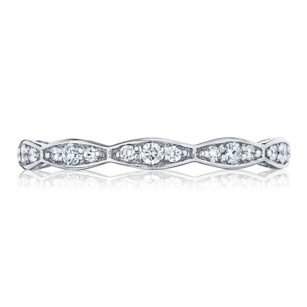 Sculpted Crescent Tacori Band