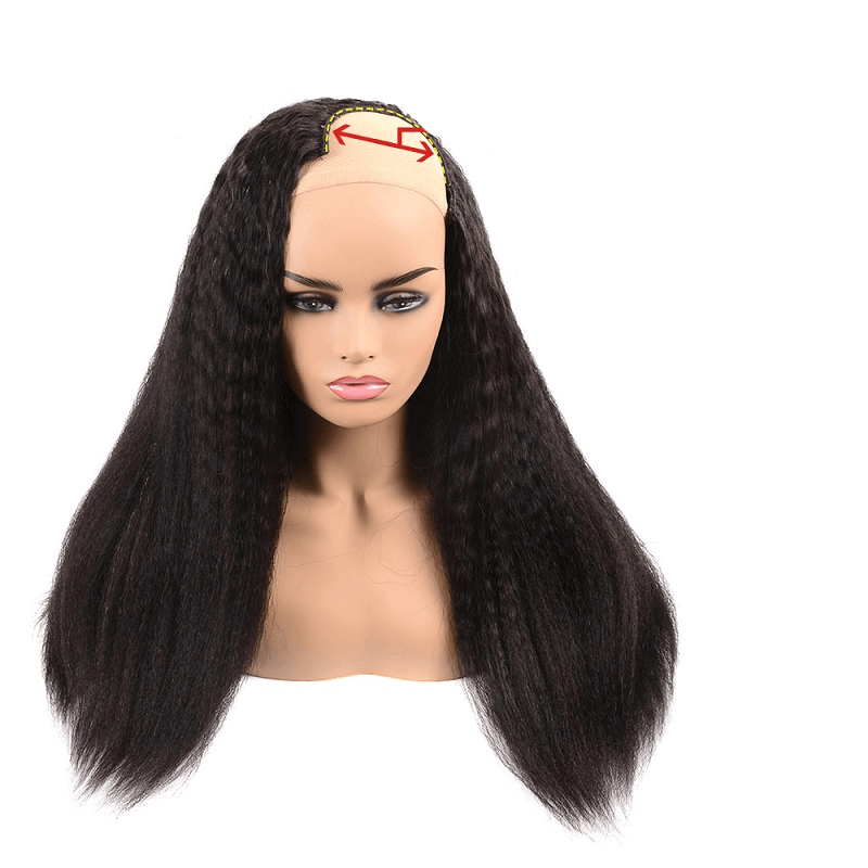 100% Human Hair U Part Yaki Straight Wig For Sale - arabellahair.com