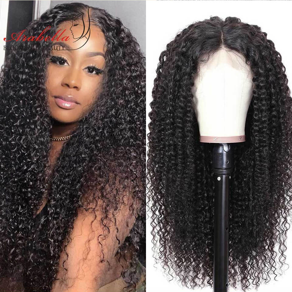 Arabella 2X6 Human Hair Wig Lace Front Curly Wig 180% Density