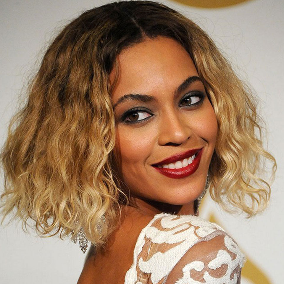 New Arrival Beyonce Style 4/27 Ombre Color Water Wave Bob Glueless 4*4 Lace Closure Wig 150% Density