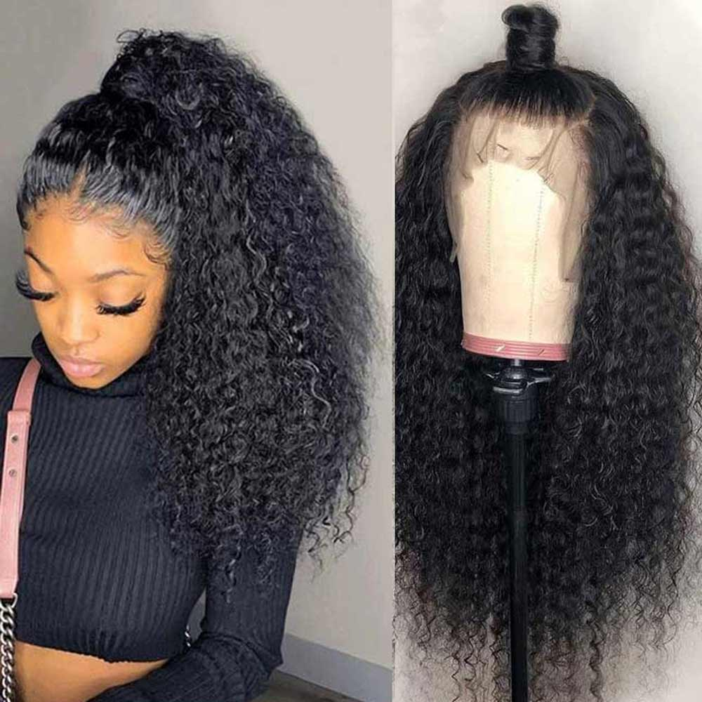 Arabella 100% Human Hair Jerry Curly 360 Lace Frontal Wig 180% Density For Sale