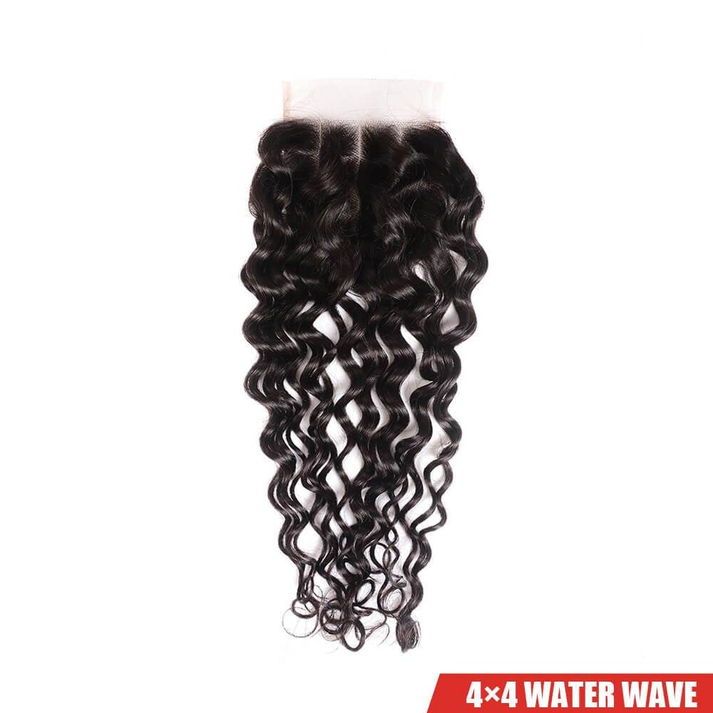 Water Wave Closure Free Part Middle Part and Three Part Lace Closure 1 Piece