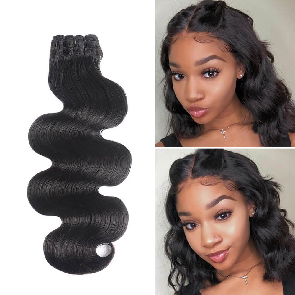 15A Grade Double Drawn Full End Body Wave Unprocessed Hair Natural Black 3 bundles/pack