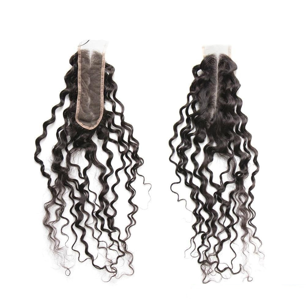 Deep Wave  Hair Closure  Middle Part Lace 2x6 Closure 1 Piece