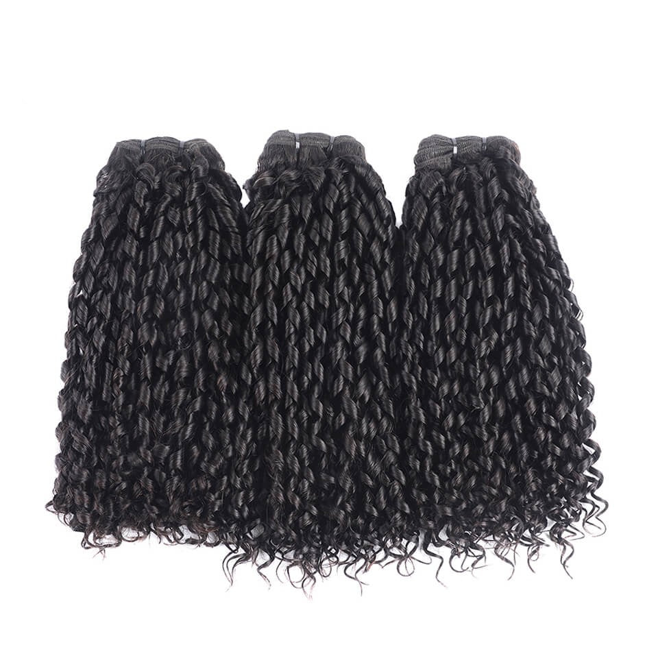 Funmi Hair Brazilian Telephone Curl  Unprocessed Virgin Funmi Hair 3 Bundles