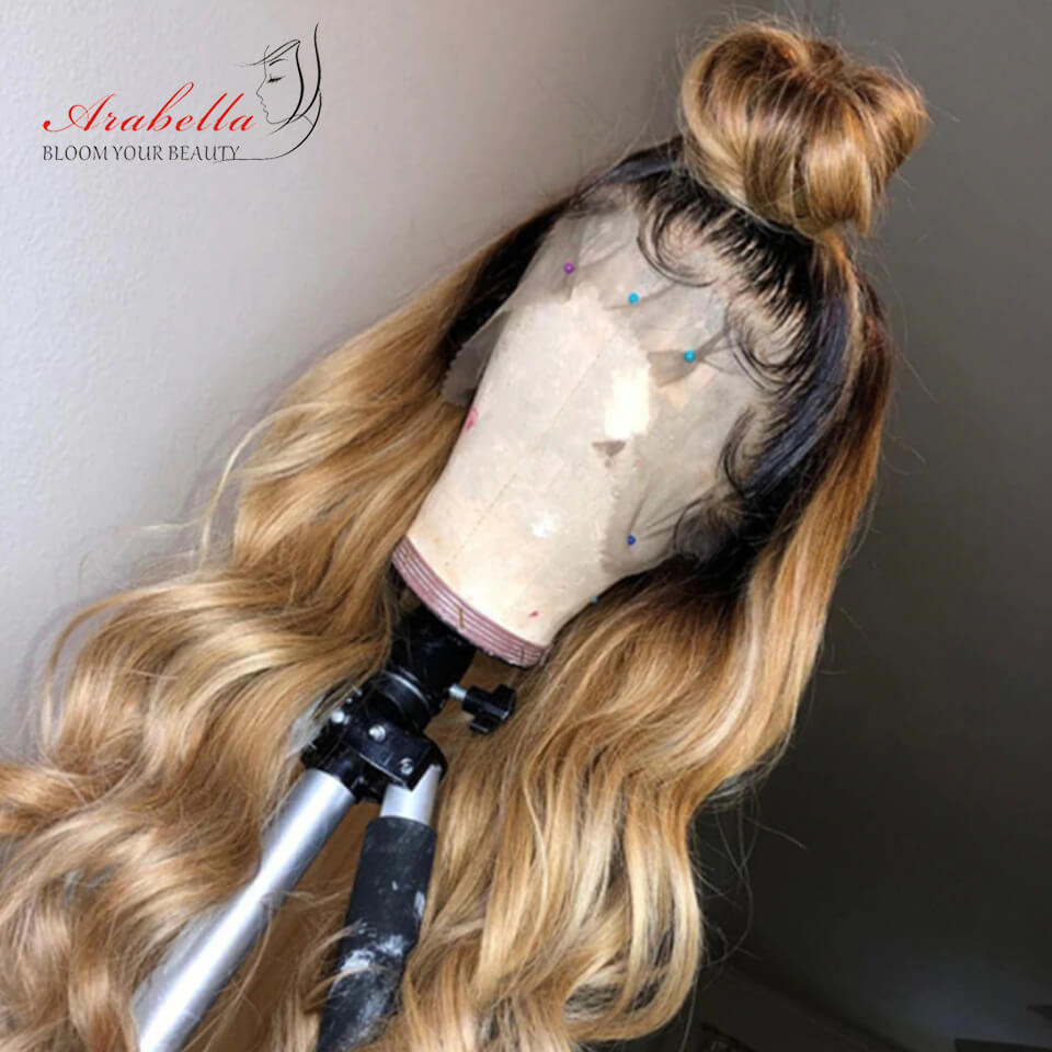 1B27 Ombre Wig Human Hair Fashion Style 180% Density - arabellahair.com