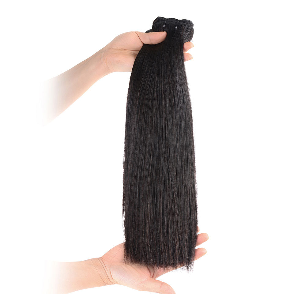 15A Grade Mink Virgin Hair ,Double Drawn Full End Unprocessed Hair Natural Black 1 bundles/pack