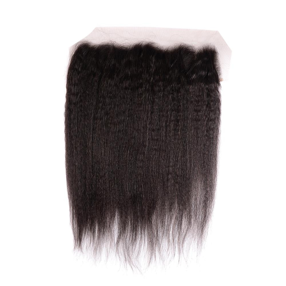 Arabella Human Virgin Hair Yaki Hair Lace Frontal Hair Closure 1 Piece