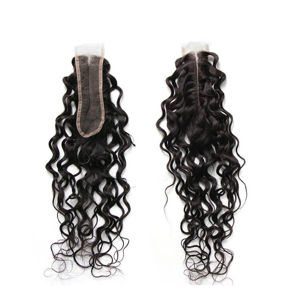 Water Wave Hair Closure  Middle Part Lace 2x6 Closure 1 Piece