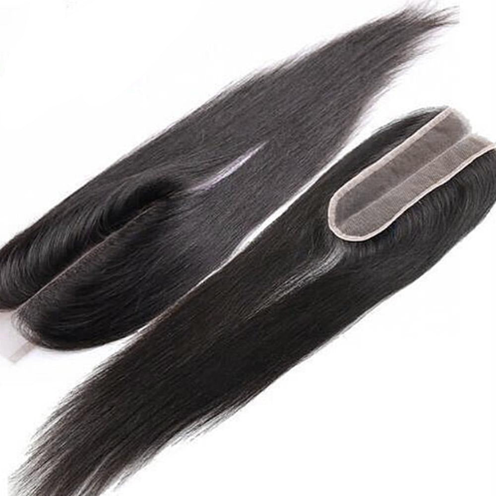 Straight Hair Closure  Middle Part Lace 2x6 Closure 1 Piece