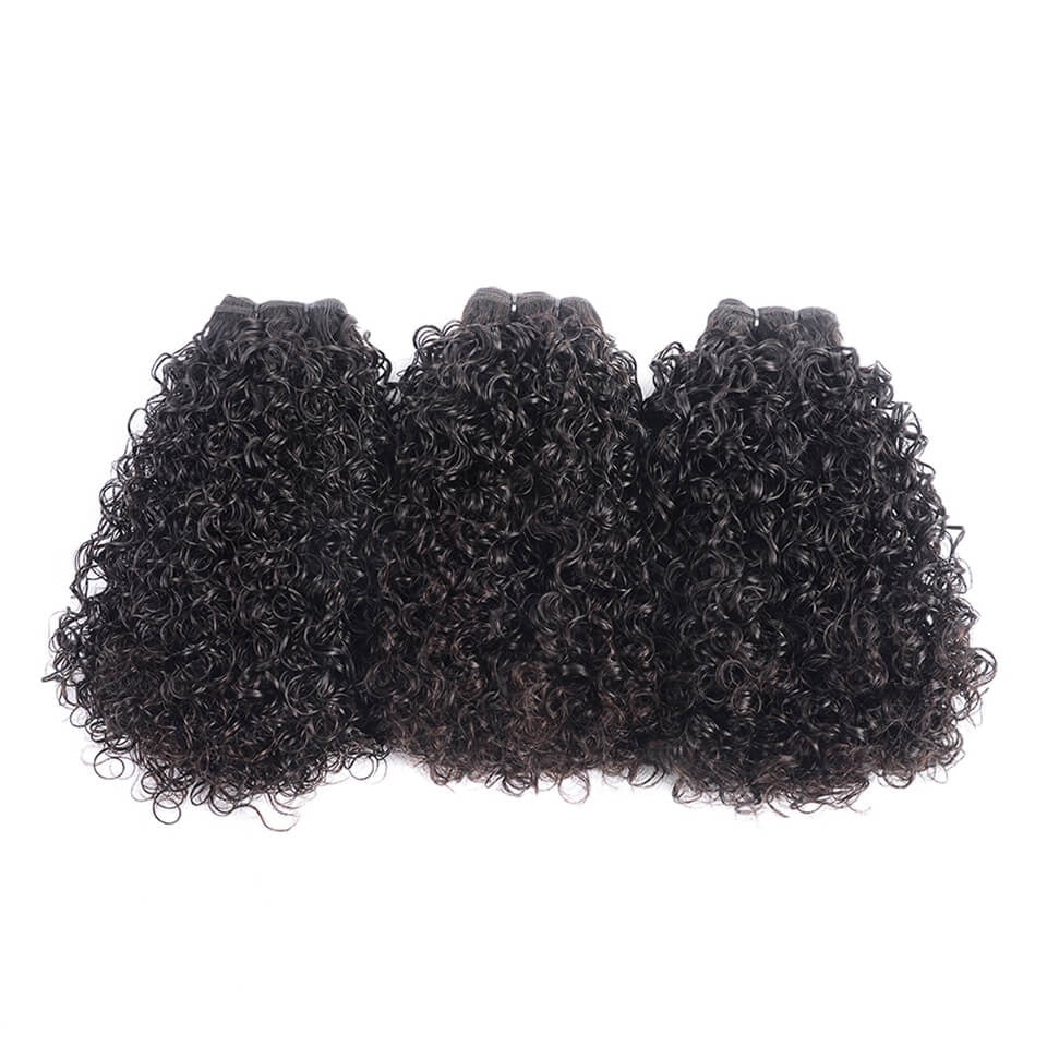 Double Telephone Curl Funmi Hair Indian Unprocessed Virgin  3 Bundles