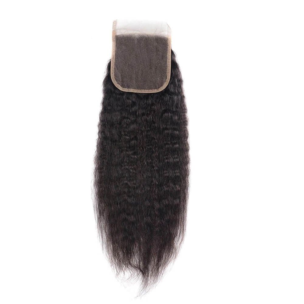 Yaki Closure Free Part Middle Part and Three Part Lace Closure 1 Piece