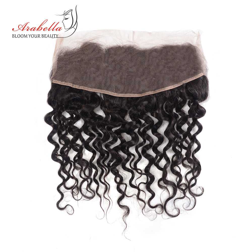 Arabella Human Virgin Hair Water Wave Hair Lace Frontal Hair Closure 1 Piece