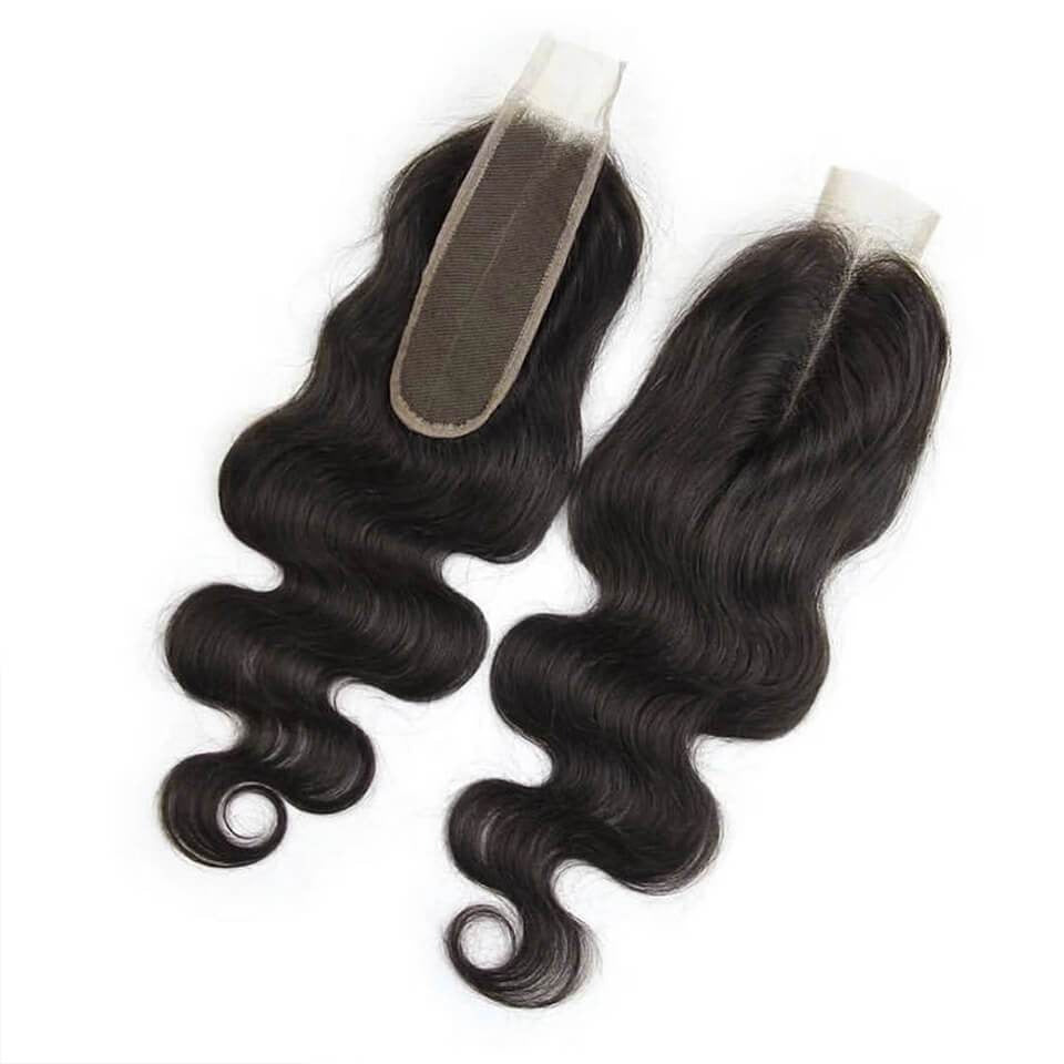 Body Wave Hair Closure  Middle Part Lace 2x6 Closure 1 Piece