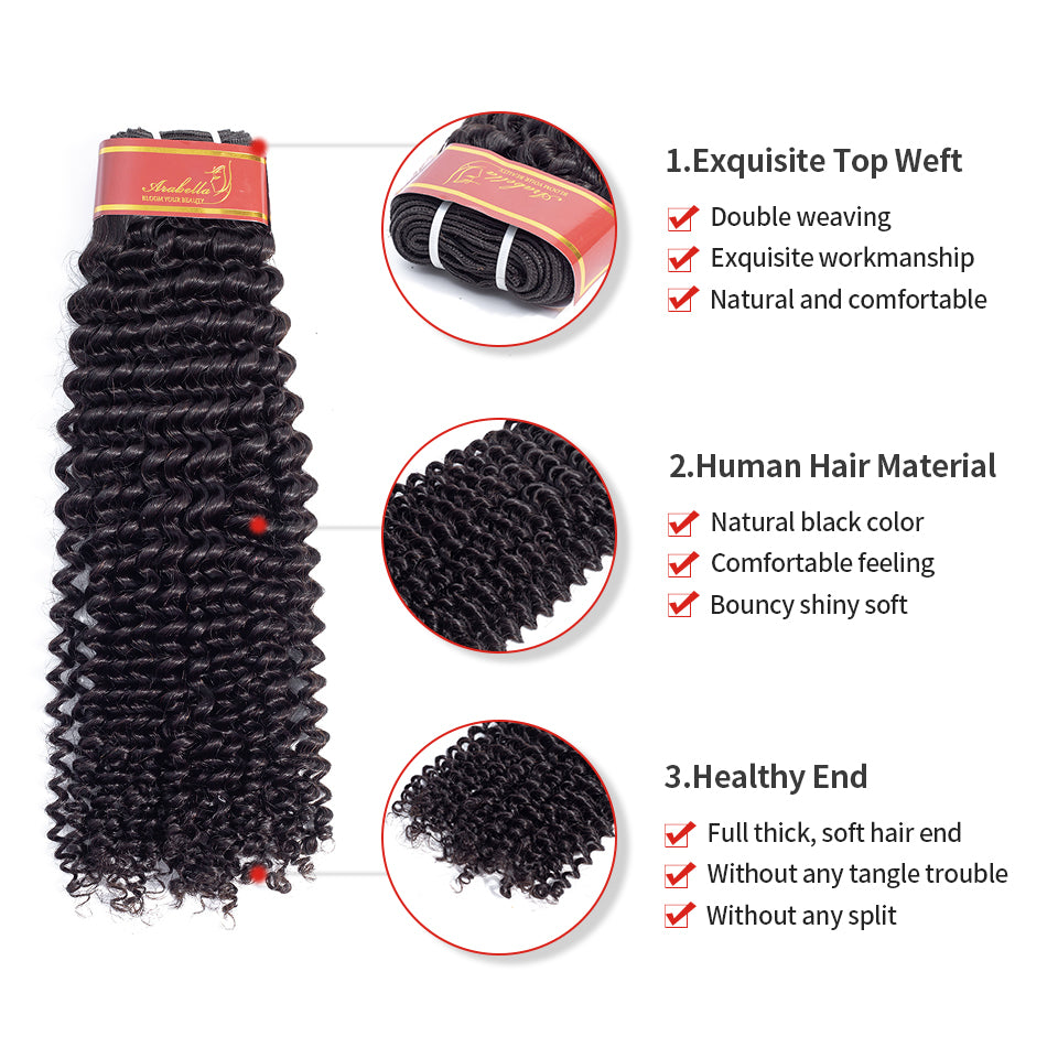 15A Grade Mink Virgin Hair ,Double Drawn Full End Unprocessed Hair Natural Black 1 bundles/pack - arabellahair.com