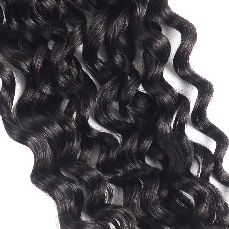 15A Mink Hair Double Drawn Water Wave Natural Black 1 bundles/pack - arabellahair.com