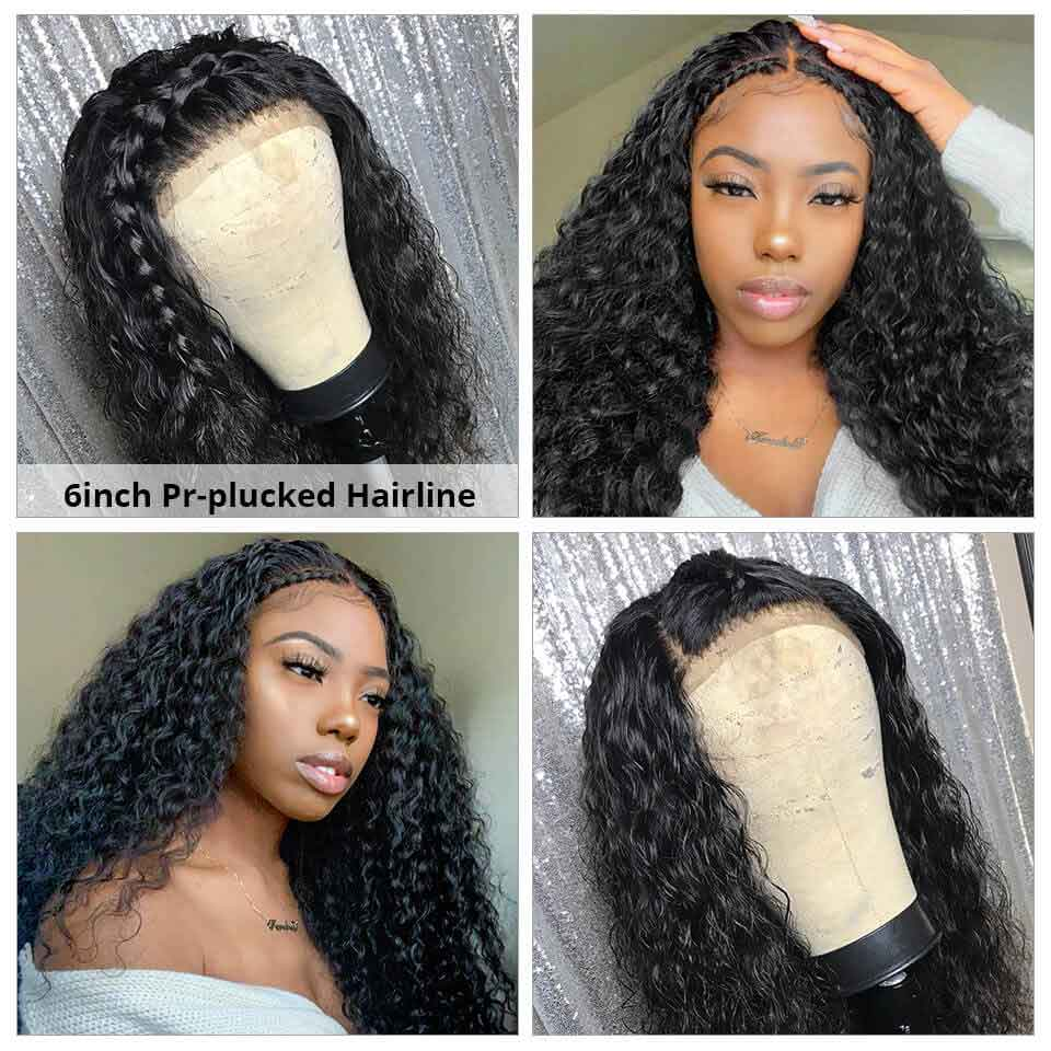 New Arrival Arabella Human Hair Wigs 6X6 Deep Wave Lace Wig 180% Density On Sale