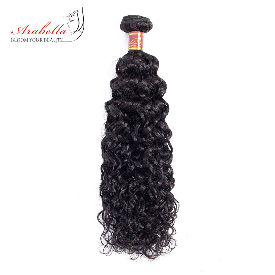 Brazilian Water Wave 3 Bundles Hair Weft With 4*4 Lace Closure