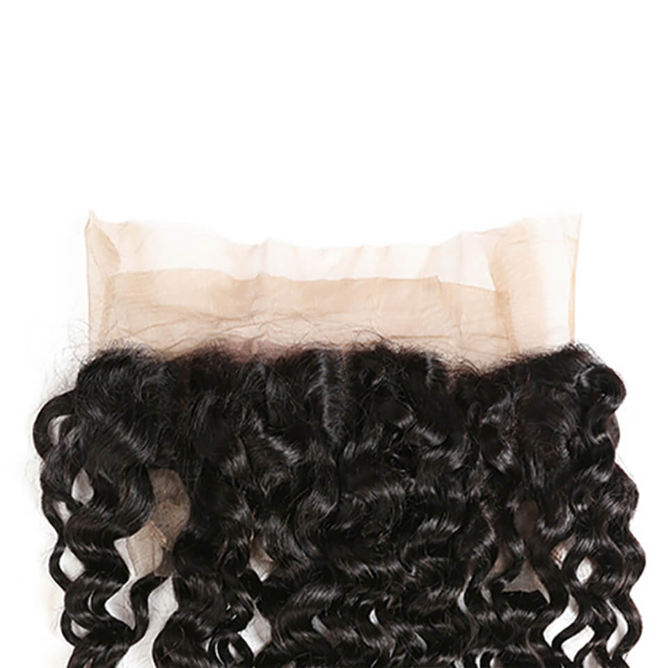 Jerry Curly 360 Lace Frontal Closure Unprocessed Human Hair