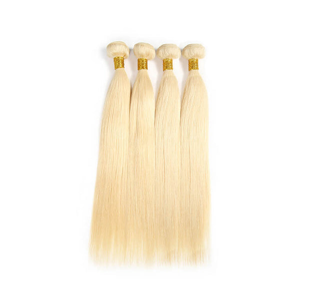Brazilian 613 Blond Straight Human Virgin Hair 4 Bundles/Pack