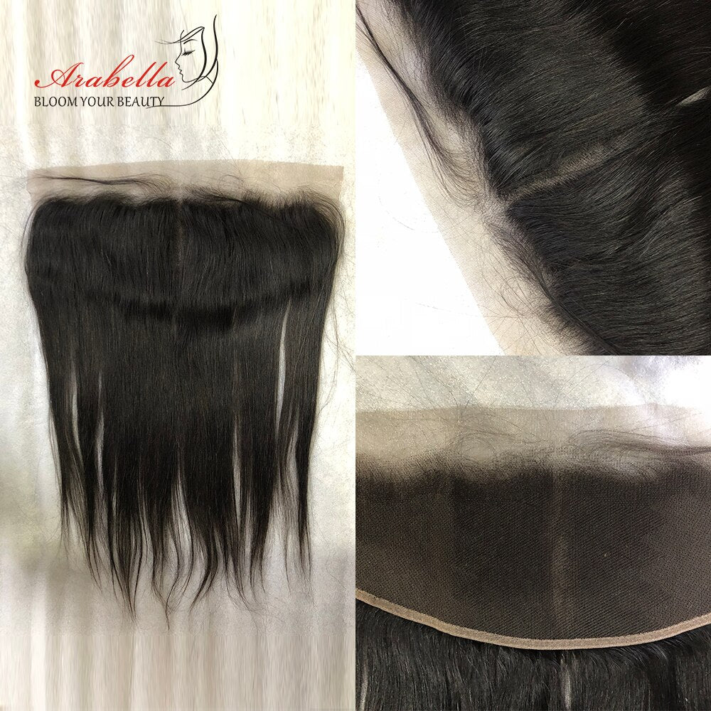 Arabella Human Virgin Hair Straight Hair Lace Frontal Hair Closure 1 Piece