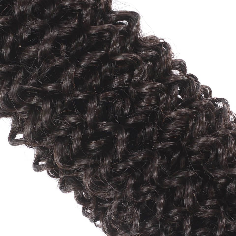 Peruvian Jerry Curly 3 Bundles Human Hair Weft Natural Color