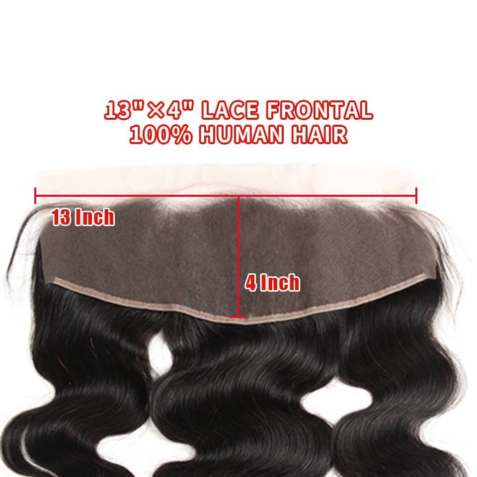 Arabella Human Virgin Hair Body Wave Hair Lace Frontal Hair Closure 1 Piece