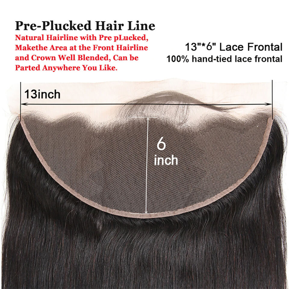 Arabella Human Virgin Hair Straight Hair Lace Frontal 13x6 Hair Closure 1 Piece
