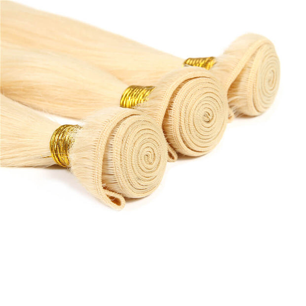 Brazilian 613 Blond Straight Virgin Human Hair Weft 3pcs/pack