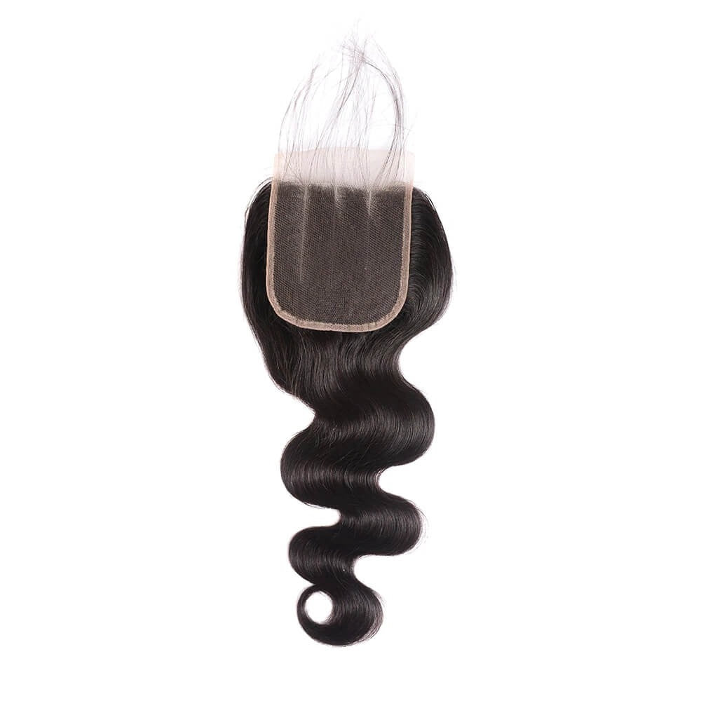 Body Wave Hair Closure Three part Middle Part and Free Part Lace Closure 1 Piece