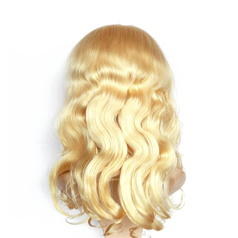 4*4 Lace Front Wig 613 Body Wave Human Hair Lace Wig,180% Density