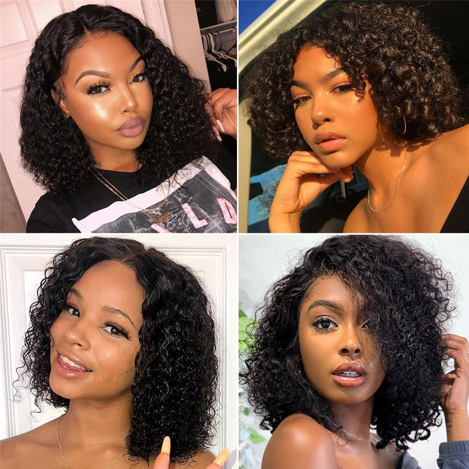 13x4 Lace Short Curly Bob Wig