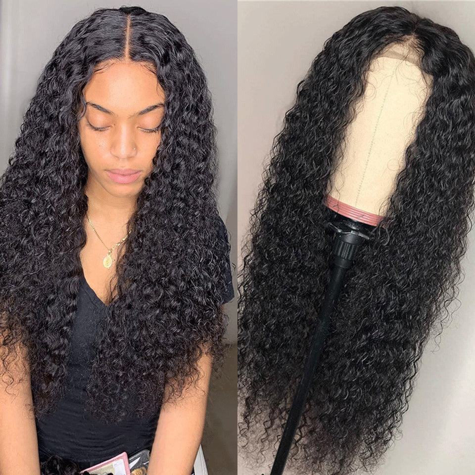 Arabella Human Hair Wigs  Jerry Curly Wave 4*4 lace Wig Sale Online