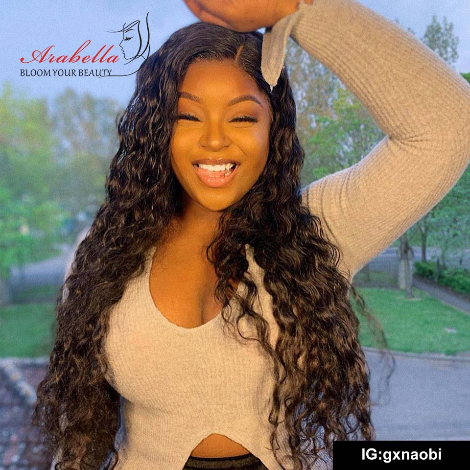 Hot Arabella Human Hair Wigs Water Wave Full lace Wig Sale Online 180% Density