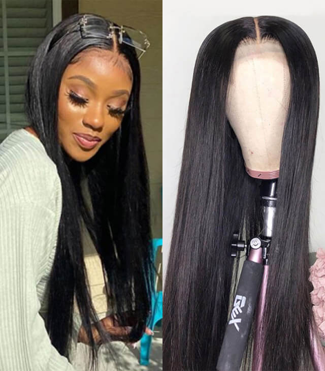 Arabella Fake Scalp Wig Lace Front Wigs Human Hair Wigs Natural Color NEW