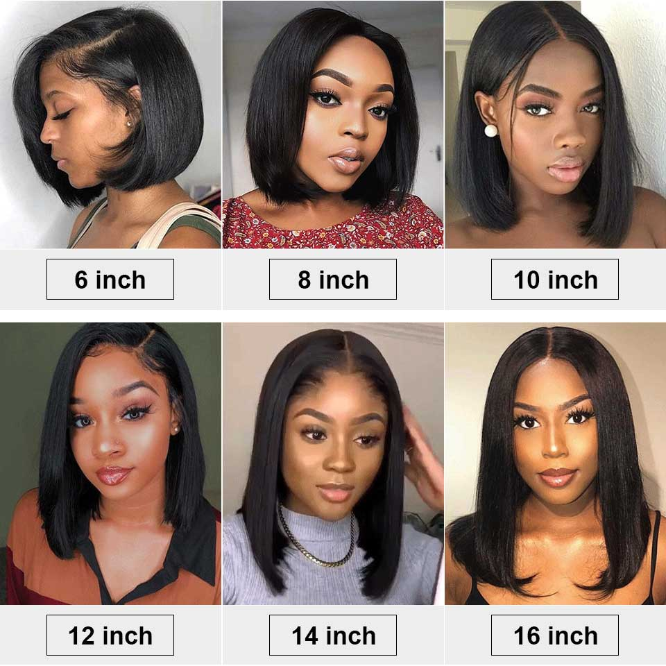 Arabella 15A TOP Grade Human Hair Straight Bob Wigs 13*6 Lace Frontal Wig With Baby Hair 210% Density Full Ends