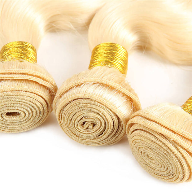 Brazilian 613 Blond Body Wave Virgin Human Hair Weft 3pcs/pack