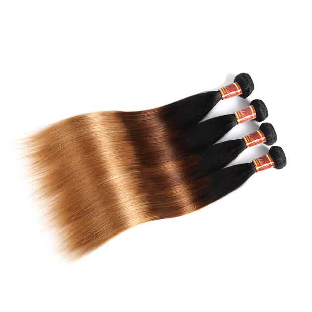 Peruvian Straight T1b/4/27 Human Hair 4 bundles/lot Sale Online